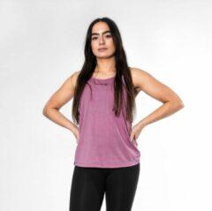 Paarse Bodyfit Body&Fit Essential Lightweight Tank Top Dames - Sportshirt Racerback – Maat: XS - Mauve
