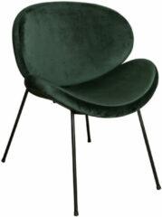 PTMD COLLECTION PTMD Janne velvet stoel zonder armleuning groen