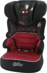 Marvel Befix luxe IRON MAN - Autostoel groep 2 3 - vanaf 3 jaar - goed getest door ANWB - Zwart, Rood