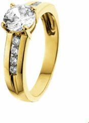 Goudkleurige The Jewelry Collection Ring Zirkonia - Geelgoud