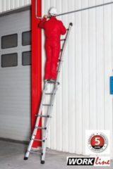 Euroline Alu Vario Leiter - Work 4x5 Sprossen - Höhe Stehleiter 2,50m