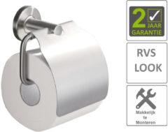 Roestvrijstalen Boss & Wessing BWS Toiletrolhouder Hera Met Klep RVS