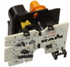 Miele Tastenschalter 2-fach kpl. (mit weiß/orangenen Tastenkappen) für Waschmaschinen 4764930