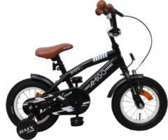AMIGO BMX Fun S 12 Inch 21 cm Jongens Terugtraprem Matzwart
