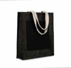 Zilveren Merkloos / Sans marque Jute shopper Black/silver