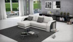 Cats Collection Design Ecksofa weiß schwarz 145 x 266 cm