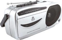 Zilveren GPO 9401 Draagbare Retro AM/FM Radio & Cassettespeler