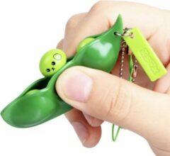 Groene JvB Fidget Bean - Fidget keychain - 4 stuks - Pop it - Squeeze it - Erwten - Bonen Fidget - pop up Fidget - Anti Stress speelgoed - Sleutelhanger