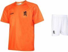 Kingdo Nederlands Elftal Voetbalshirt - Voetbaltenue - Oranje - Holland - Shirt + broekje - Voetbalkleding - Kids - Senior - 128