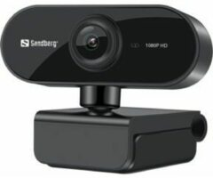 Zwarte Sandberg Flex Full HD webcam 1920 x 1080 p