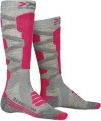 X-socks Skisokken Merino 4.0 Dames Polyamide/wol Roze Mt 35-36