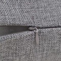 Grijze VidaXL Kussenhoezen linnen look 50 x 50 cm antraciet 4 stuks