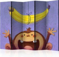 Paarse Kamerscherm - Scheidingswand - Vouwscherm - Bananana II [Room Dividers] 225x172 - Artgeist Vouwscherm
