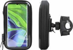 Interphone - Xiaomi Mi Note 10 Motorhouder Unicase Telefoonhouder Fiets en Motor Stuur Zwart