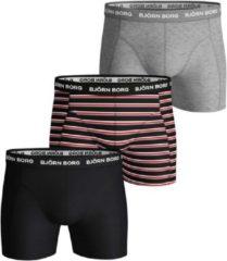 Björn Borg Bjorn Borg Basis Boxershort - Maat S - Mannen - zwart/rood/grijs