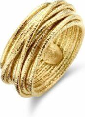 Goudkleurige Casa Jewelry Ring Wikkel Satin 58 - Zilver - Goud Verguld