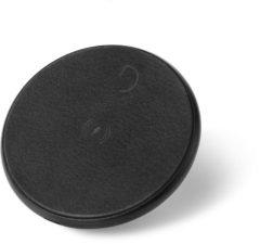DECODED FastPad Wireless Charger – Qi draadloze lader – Metalen Disc + leren pad - 10W / 7,5W output – incl. USB-C Kabel [ Zwart / Zwart ]