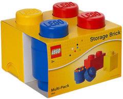 Creme witte LEGO Storage Opbergbox - Set van 3 stuks - Kunststof - Assorti