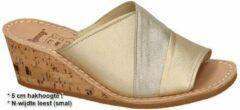 Ronny -Dames - goud - slipper - muiltje - maat 42