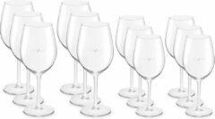 Transparante Voordeelset van 6x witte wijnglazen 320 ml en 6x rode wijnglazen 530 ml - Serie: Esprit - Royal Leerdam