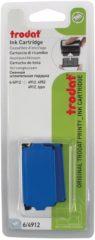 Trodat vervangkussen blauw, voor stempel 4912, blister met 2 stuks