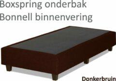 Boxspring.nl - Uw Bed Boxspringonderbak Bonnell binnenvering, 90 x 200, Donkerbruin | Losse boxspring | Boxspring bedbodem | Boxspring onderstel | Bonnellboxspring | Springbox | Boxspring zonder matras