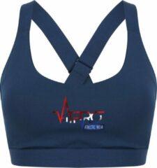 FitProWear Dames Sporttop Taurito - Donkerblauw - Maat L - Sport Beha - Sport BH - Fitness kleding - Sporthemd - Sportshirt - Fitness top - Fitness BH - Fitness Beha - Taurito - Crop Top - Naadloze sporttop