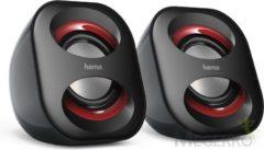 Rode Hama Sonic Mobil 183 2.0 PC-luidsprekers Kabelgebonden 3 W Zwart/rood