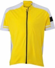 James & Nicholson James and Nicholson - Heren Fietsshirt met Full Zip (Geel)