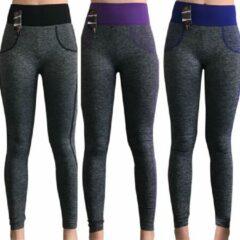 Blauwe Merkloos / Sans marque Yoga annex sport-leggings (3 pack)