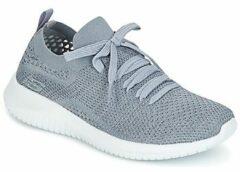 Lichtgrijze Slip-on Sneakers Skechers Ultra Flex Statements
