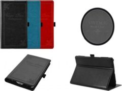Rode Vintage Carpe Diem Hoes Case Cover voor Cube Talk 7x, zeer stijlvol hoesje, rood , merk i12Cover