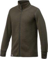 Woolpower - Full Zip Jacket 600 - Wollen vest maat S, zwart/olijfgroen