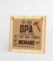 Bruine Paper dreams Paperdreams   OPA   houten tekst bord   wooden sign   20x20 cm   decoratie cadeautje