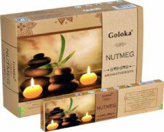 Goloka Wierook Aromatherapy Nutmeg (12 pakjes)