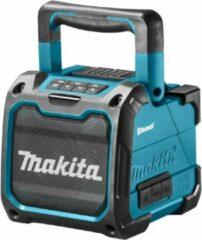 Blauwe Makita DMR200 Accu Bluetooth Bouwspeaker 10.8V Li-Ion