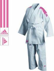 Adidas judopak J350 Club wit/roze maat 130 cm