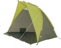 10-T Outdoor Equipment 10T Korsika - Strandmuschel 240x125x140cm grün/grau Wind- & Sonnenschutz mit Bodenplane