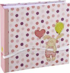 Roze Hama baby plak fotoalbum - 10x15 - 200 foto's