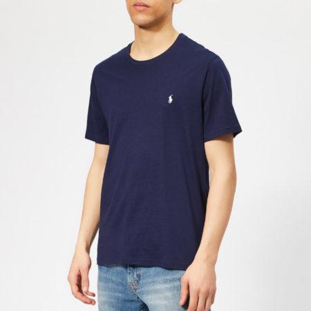 Afbeelding van Blauwe Polo Ralph Lauren Men's Liquid Cotton Jersey T-Shirt - Cruise Navy - XL - Blue