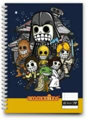 Ons Magazijn Calaveritas - Space warriors notebook A5