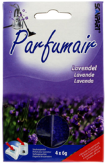 Paarse Scanpart Parfumair Stofzuigerverfrisser - Geurkorrels - Lavendel - 4 x 6g