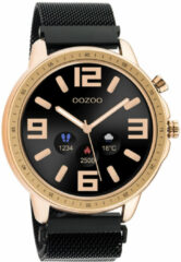 OOZOO Q00308 Smartwatch Mesh Staal zwart-rosekleurig 45 mm