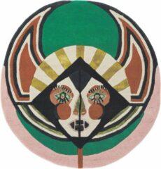 Ted Baker - Zodiac Virgo 161605 Vloerkleed - 100 cm rond - Rond - Laagpolig, Rond Tapijt - Modern - Meerkleurig