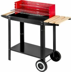 TecTake - BBQ grill - houtskool barbecue - zwart rood - 402329