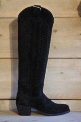 Sendra 16525 kniehoog , zwart suede, maat 36
