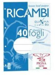 Pigna Ricambi Ricambi Quaxima A4 80gr 1R 40 fogli