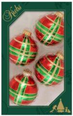 Weihnachtskugeln, 4tlg. Krebs Glas Lauscha Rot