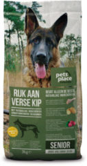 Pets Place Naturals Senior Large Breed Kip - Hondenvoer - 3 kg - Hondenvoer