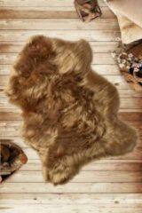 Gouden Nerge.be | Plush Mink 60x90 cm | Decoratie Vloerkleed | Wasbaar in de machine | Antislip